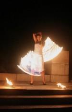 Feuershow aus Berlin - Linn Borell
