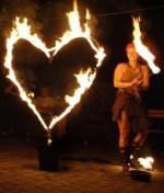 Feuershow aus München - Feuerherz