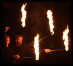 Feuershow mit Christian Dirr aus Trier