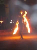 Feuershow mit der Gruppe Glücksfeuer aus Weimar